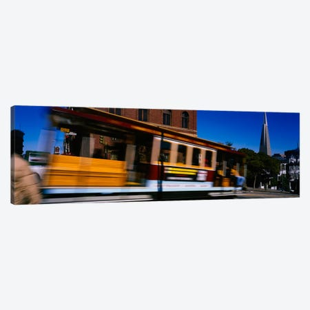 Cable car moving on a street, San Francisco, California, USA Canvas Print #PIM1904} by Panoramic Images Canvas Print