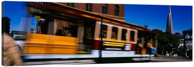 Cable car moving on a street, San Francisco, California, USA Canvas Print #PIM1904