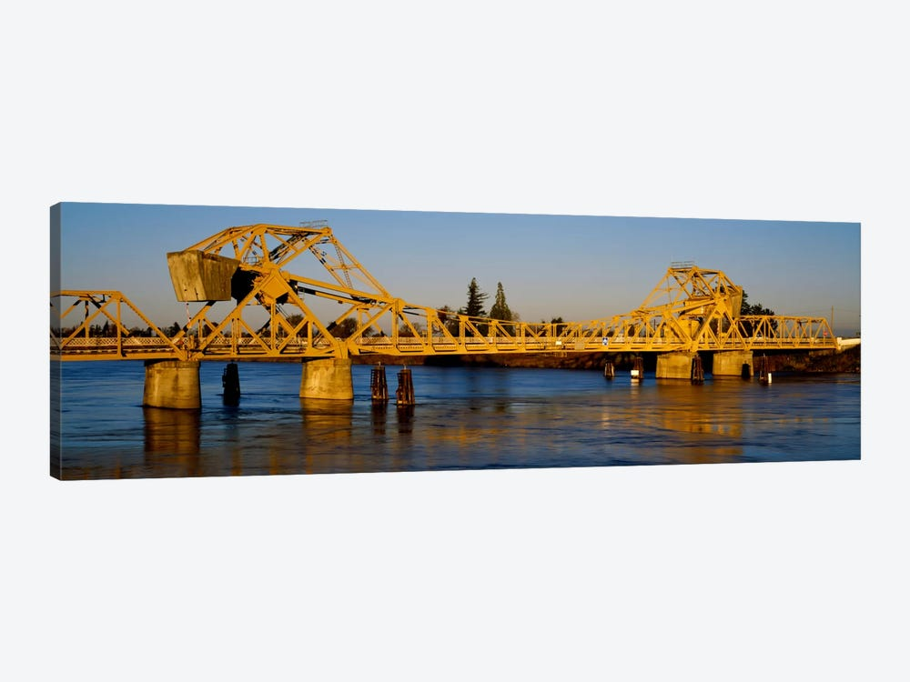 Drawbridge across a river, The Sacramento-San Joaquin River Delta, California, USA by Panoramic Images 1-piece Art Print