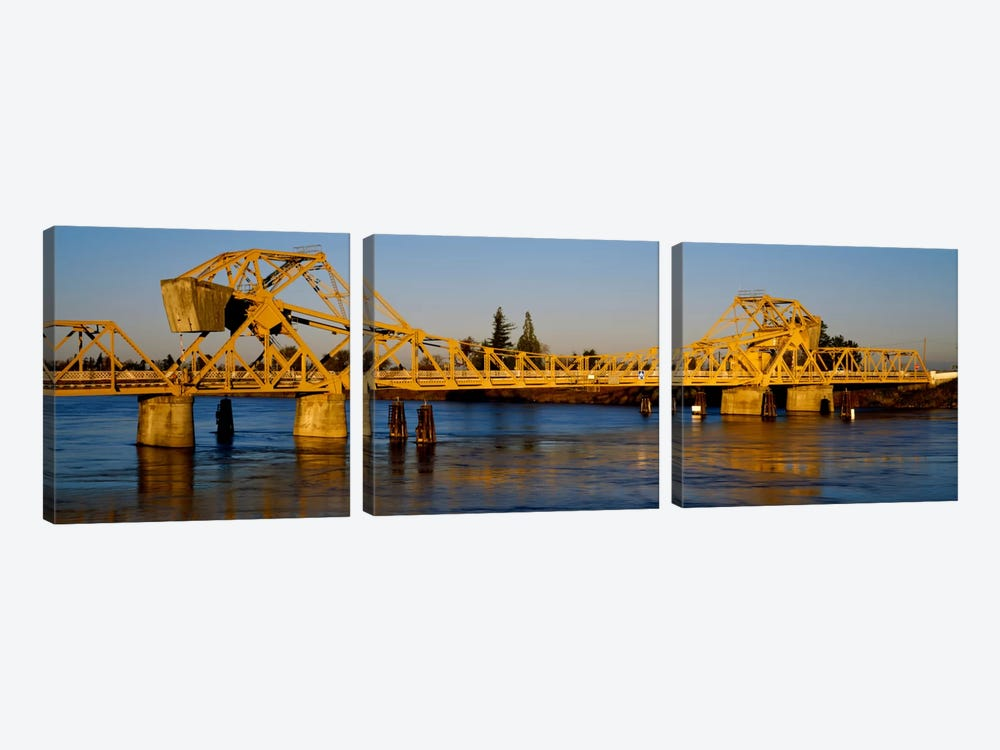 Drawbridge across a river, The Sacramento-San Joaquin River Delta, California, USA by Panoramic Images 3-piece Art Print