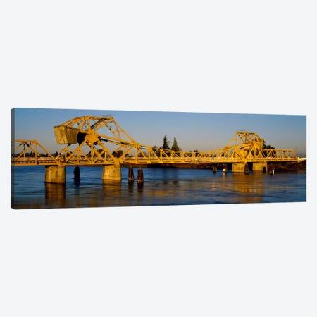 Drawbridge across a river, The Sacramento-San Joaquin River Delta, California, USA Canvas Print #PIM1905} by Panoramic Images Art Print