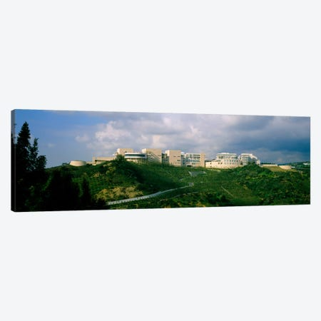 Low angle view of a museum on top of a hill, Getty Center, City of Los Angeles, California, USA Canvas Print #PIM1906} by Panoramic Images Canvas Print