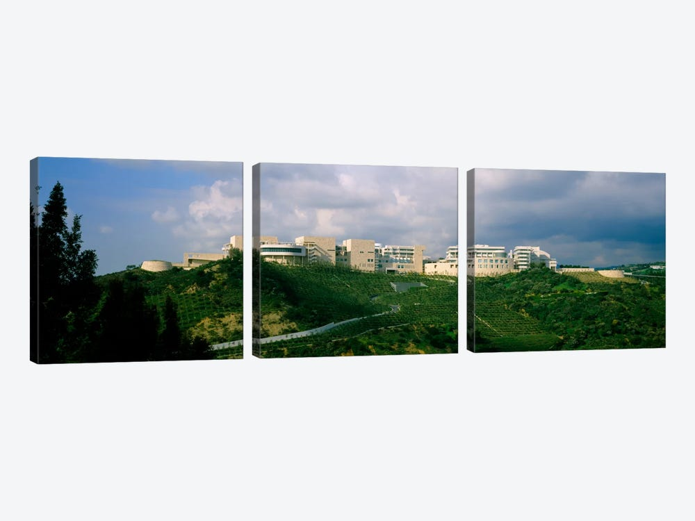 Low angle view of a museum on top of a hill, Getty Center, City of Los Angeles, California, USA by Panoramic Images 3-piece Canvas Wall Art