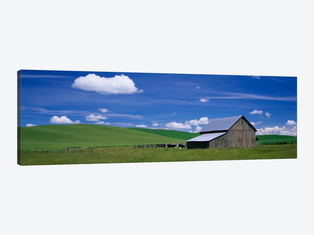 Barn in a wheat field, Washington State, USA by Panoramic Images 1-piece Art Print