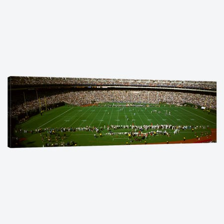 Spectator watching a football match, Veterans Stadium, Philadelphia, Pennsylvania, USA #3 Canvas Print #PIM1910} by Panoramic Images Canvas Print