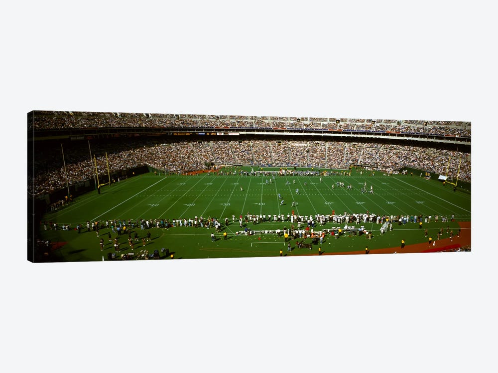 Spectator watching a football match, Veterans Stadium, Philadelphia, Pennsylvania, USA #3 1-piece Canvas Art Print