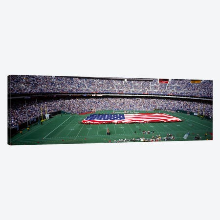 Spectator watching a football match, Veterans Stadium, Philadelphia, Pennsylvania, USA #4 Canvas Print #PIM1911} by Panoramic Images Art Print