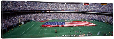 Spectator watching a football match, Veterans Stadium, Philadelphia, Pennsylvania, USA #4 Canvas Print #PIM1911