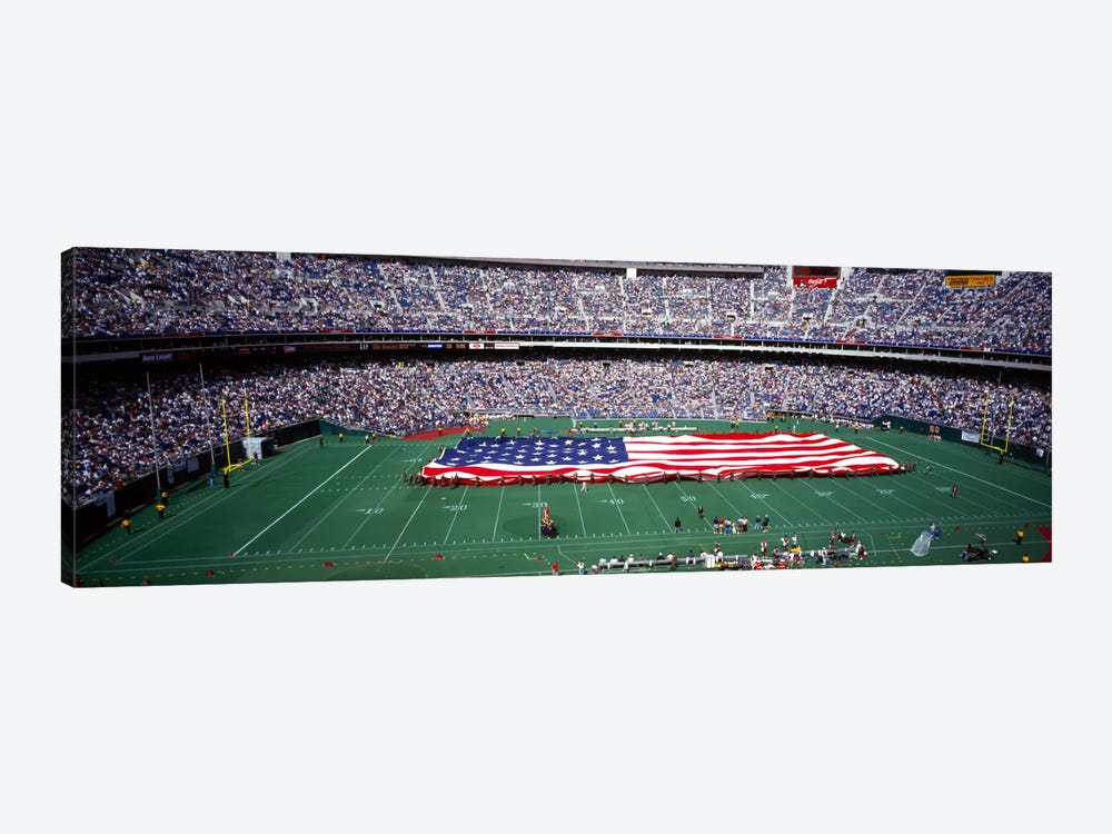 Spectator watching a football match, Veterans Stadium, Philadelphia, Pennsylvania, USA #4 by Panoramic Images 1-piece Canvas Wall Art