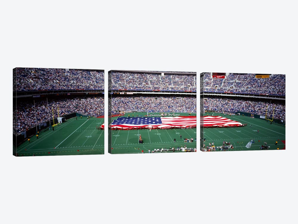 Spectator watching a football match, Veterans Stadium, Philadelphia, Pennsylvania, USA #4 by Panoramic Images 3-piece Canvas Art