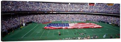 Spectator watching a football match, Veterans Stadium, Philadelphia, Pennsylvania, USA #4 Canvas Art Print