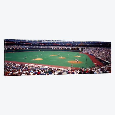 Spectator watching a baseball match, Veterans Stadium, Philadelphia, Pennsylvania, USA Canvas Print #PIM1912} by Panoramic Images Art Print