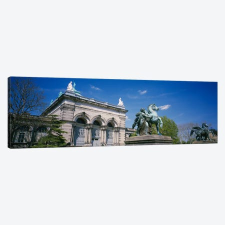 Low angle view of a statue in front of a building, Memorial Hall, Philadelphia, Pennsylvania, USA Canvas Print #PIM1913} by Panoramic Images Canvas Print