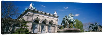 Low angle view of a statue in front of a building, Memorial Hall, Philadelphia, Pennsylvania, USA Canvas Print #PIM1913