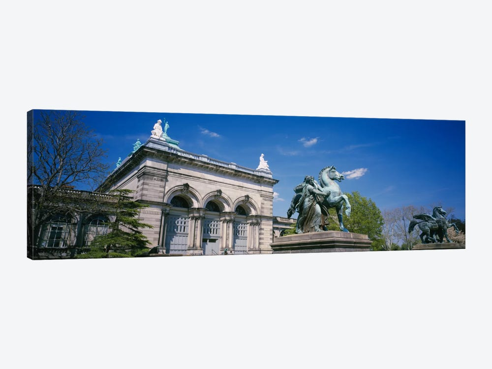 Low angle view of a statue in front of a building, Memorial Hall, Philadelphia, Pennsylvania, USA by Panoramic Images 1-piece Canvas Wall Art