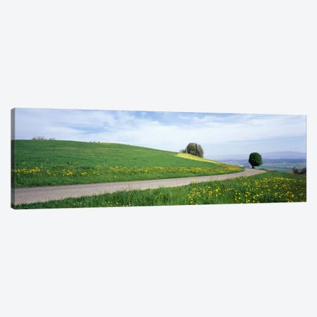 Road Fields Aargau Switzerland Canvas Print #PIM1916} by Panoramic Images Canvas Artwork