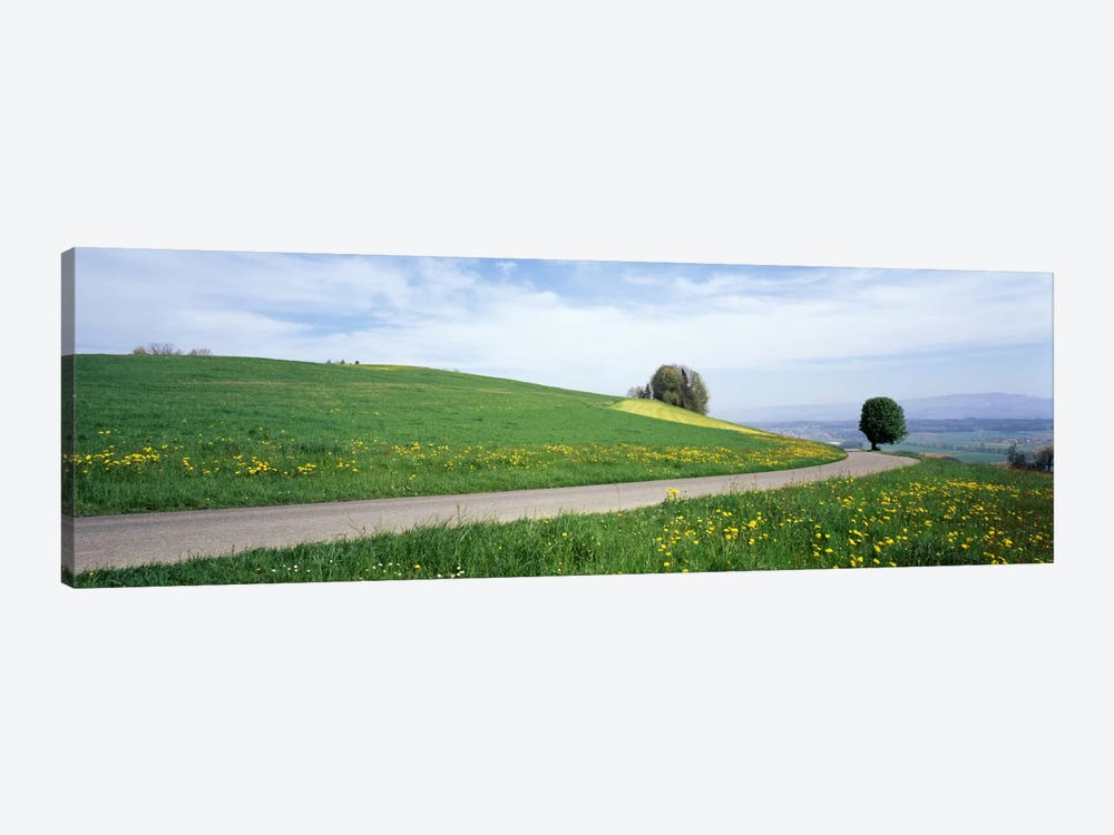 Road Fields Aargau Switzerland 1-piece Canvas Print