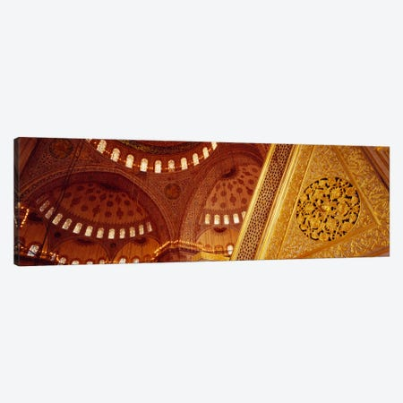 Low angle view of ceiling of a mosque with ionic tiles, Blue Mosque, Istanbul, Turkey Canvas Print #PIM1918} by Panoramic Images Canvas Print