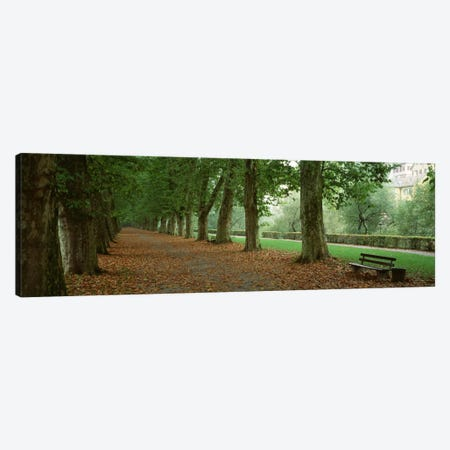 City Park w/ bench in autumn Tubingen Germany Canvas Print #PIM191} by Panoramic Images Canvas Art