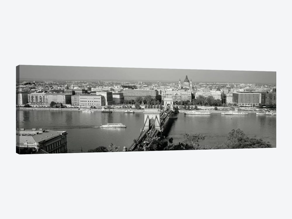 Chain Bridge Over The Danube River, Budapest, Hungary by Panoramic Images 1-piece Canvas Art