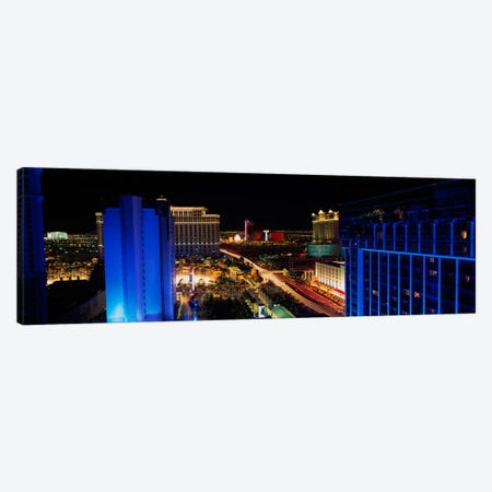 Buildings Lit Up At Night, Las Vegas, Nevada, USA Canvas Print #PIM1933} by Panoramic Images Canvas Art Print