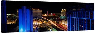 Buildings Lit Up At Night, Las Vegas, Nevada, USA Canvas Print #PIM1933