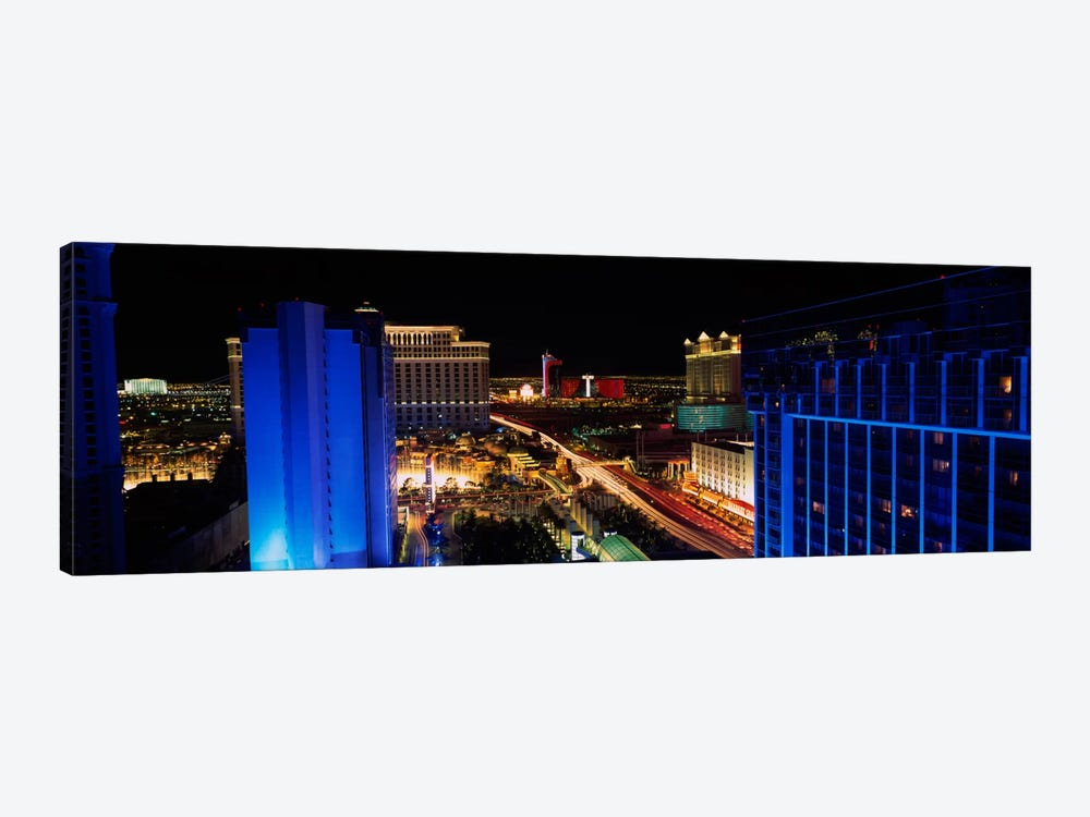 Buildings Lit Up At Night, Las Vegas, Nevada, USA by Panoramic Images 1-piece Canvas Art