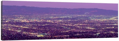 Aerial Silicon Valley San Jose California USA Canvas Art Print