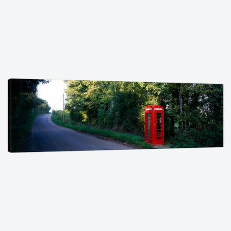 Phone Booth, Worcestershire, England, United Kingdom Canvas Print #PIM193} by Panoramic Images Canvas Wall Art