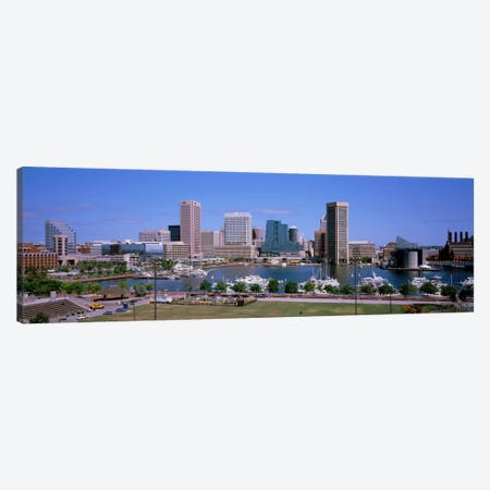 Inner Harbor Skyline Baltimore MD USA Canvas Print #PIM1940} by Panoramic Images Canvas Art