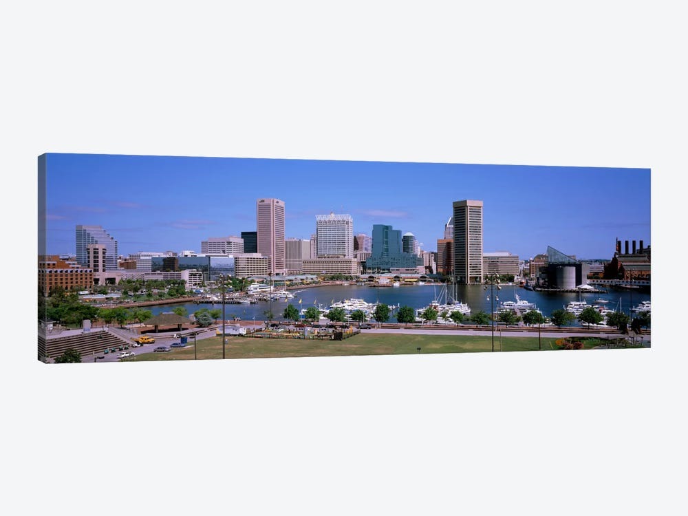 Inner Harbor Skyline Baltimore MD USA by Panoramic Images 1-piece Canvas Artwork