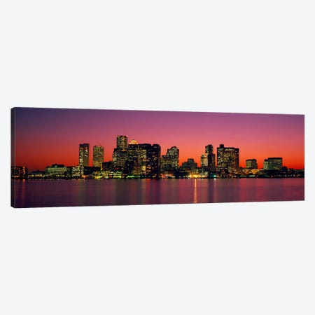 Sunset Boston MA Canvas Print #PIM1941} by Panoramic Images Canvas Art