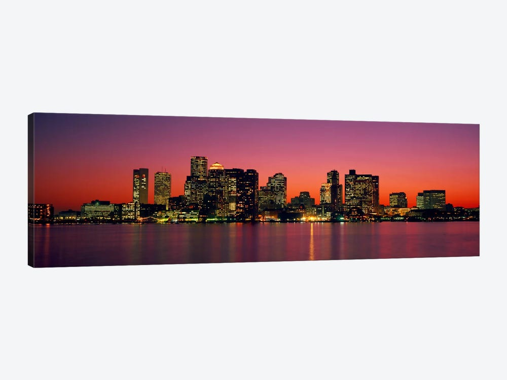 Sunset Boston MA by Panoramic Images 1-piece Canvas Print