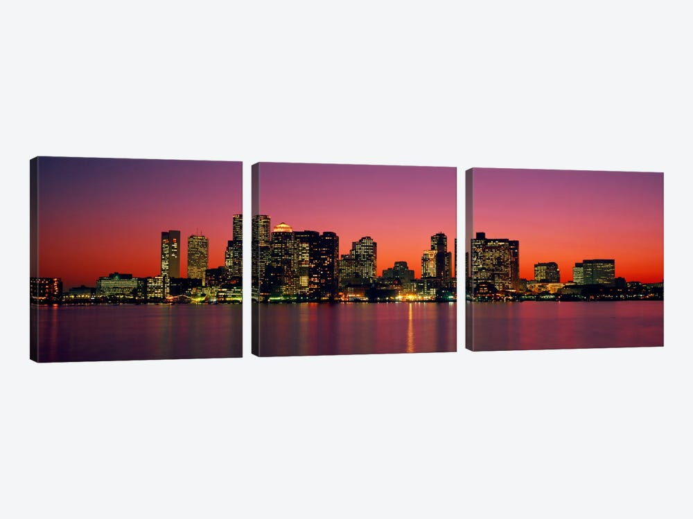 Sunset Boston MA by Panoramic Images 3-piece Art Print