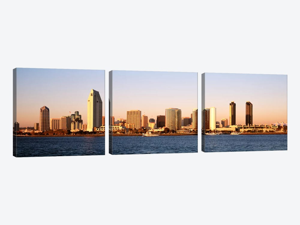 Buildings in a city, San Diego, California, USA by Panoramic Images 3-piece Canvas Art Print