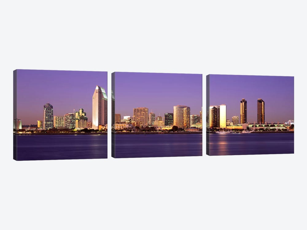 Skyscrapers in a citySan Diego, San Diego County, California, USA by Panoramic Images 3-piece Canvas Art