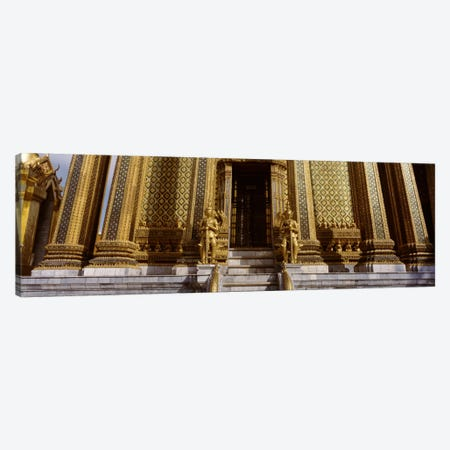 Low angle view of statues in front of a temple, Phra Mondop, Grand Palace, Bangkok, Thailand Canvas Print #PIM1946} by Panoramic Images Canvas Print
