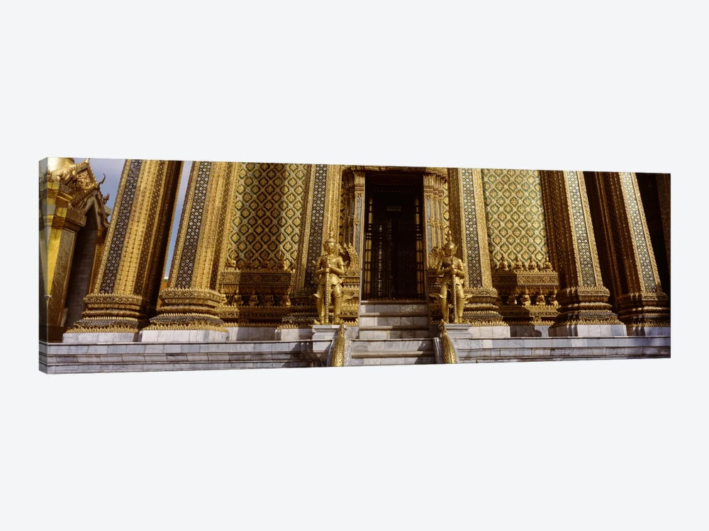 Low angle view of statues in front of a temple, Phra Mondop, Grand Palace, Bangkok, Thailand by Panoramic Images 1-piece Canvas Art