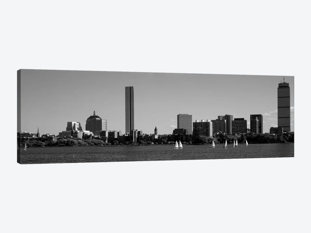 MIT Sailboats, Charles River, Boston, Massachusetts, USA by Panoramic Images 1-piece Canvas Wall Art