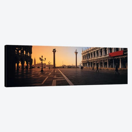 Piazza San Marco (St. Mark's Square) At Twilight, Venice, Italy Canvas Print #PIM1949} by Panoramic Images Canvas Artwork