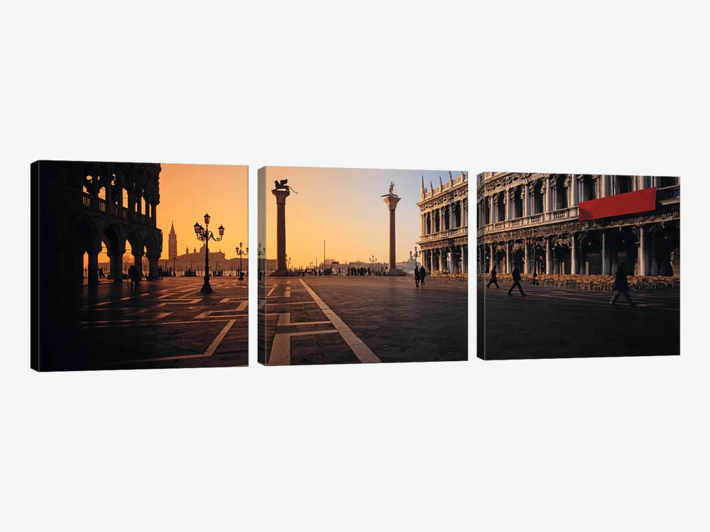 Piazza San Marco (St. Mark's Square) At Twilight, Venice, Italy by Panoramic Images 3-piece Art Print