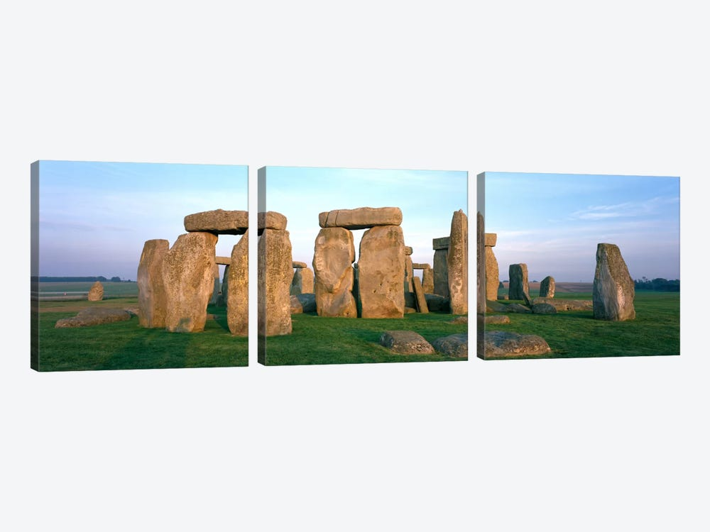 England, Wiltshire, Stonehenge by Panoramic Images 3-piece Canvas Art
