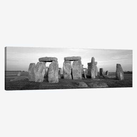 England, Wiltshire, Stonehenge (black & white) Canvas Print #PIM194bw} by Panoramic Images Canvas Print