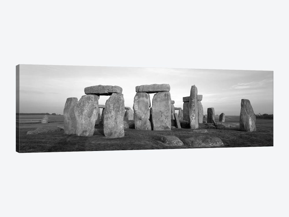 England, Wiltshire, Stonehenge (black & white) by Panoramic Images 1-piece Canvas Wall Art