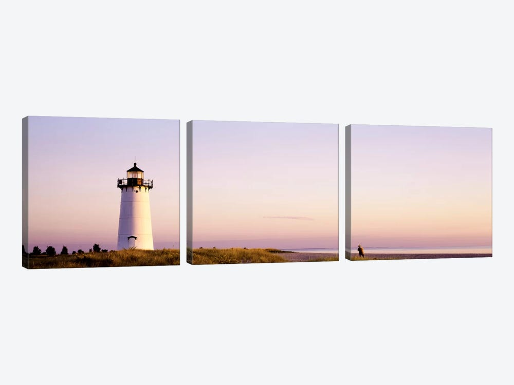 Edgartown Lighthouse, Martha'ss Vineyard, Dukes County, Massachusetts, USA by Panoramic Images 3-piece Canvas Print
