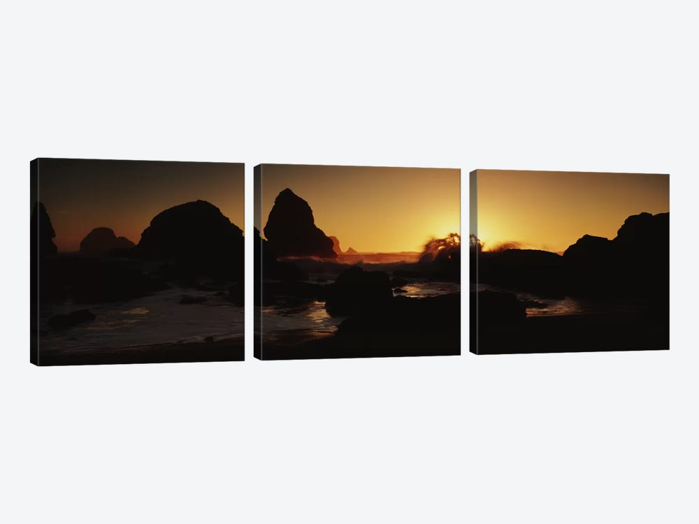 Luffenholtz Beach CA USA by Panoramic Images 3-piece Canvas Art
