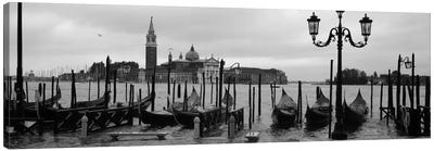 Gondolas with a church in the background, Church Of San Giorgio Maggiore, San Giorgio Maggiore, Venice, Veneto, Italy Canvas Art Print