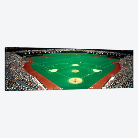 Phillies vs Mets baseball gameVeterans Stadium, Philadelphia, Pennsylvania, USA Canvas Print #PIM1957} by Panoramic Images Canvas Wall Art