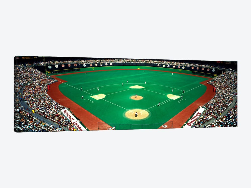Phillies vs Mets baseball gameVeterans Stadium, Philadelphia, Pennsylvania, USA by Panoramic Images 1-piece Canvas Wall Art