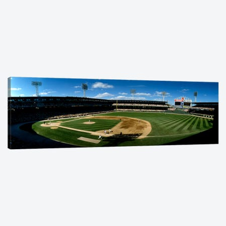 High angle view of a baseball match in progress, U.S. Cellular Field, Chicago, Cook County, Illinois, USA Canvas Print #PIM1960} by Panoramic Images Canvas Wall Art